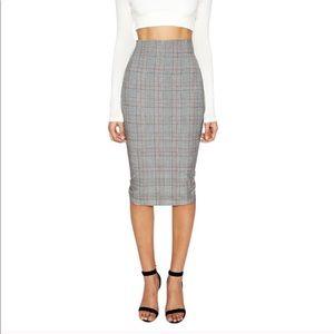 78ba914ae4 NWT Naked Wardrobe plaid high waisted pencil skirt